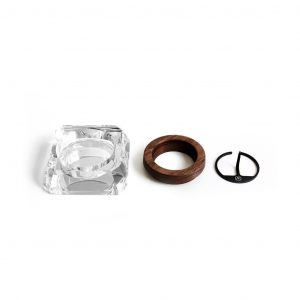 CRYSTAL ASH TRAY - POSACENERE in CRISTALLO LTD - Marley Natural