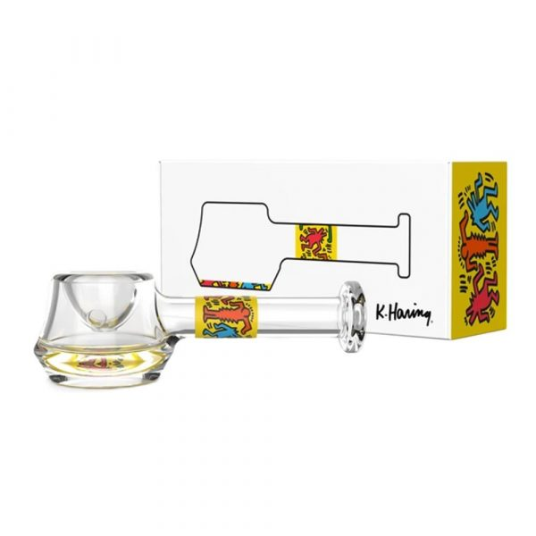 spoon-hand-pipe-yellow-keith-haring-bear-bush-1
