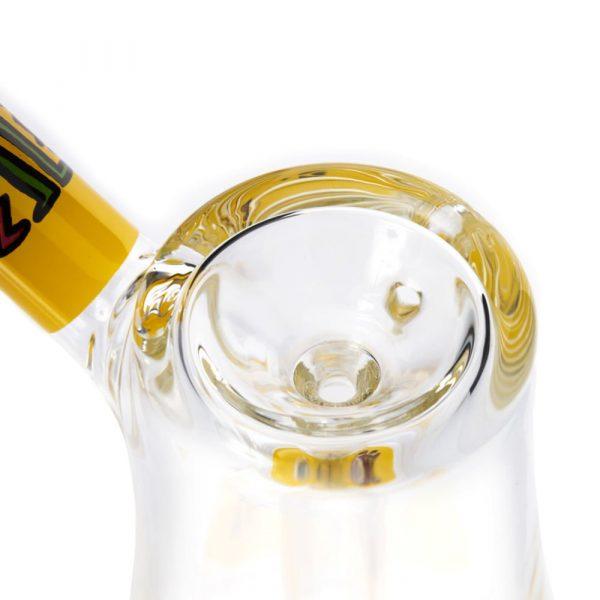 yellow-white-bubbler-glass-k-haring-bear-bush-4
