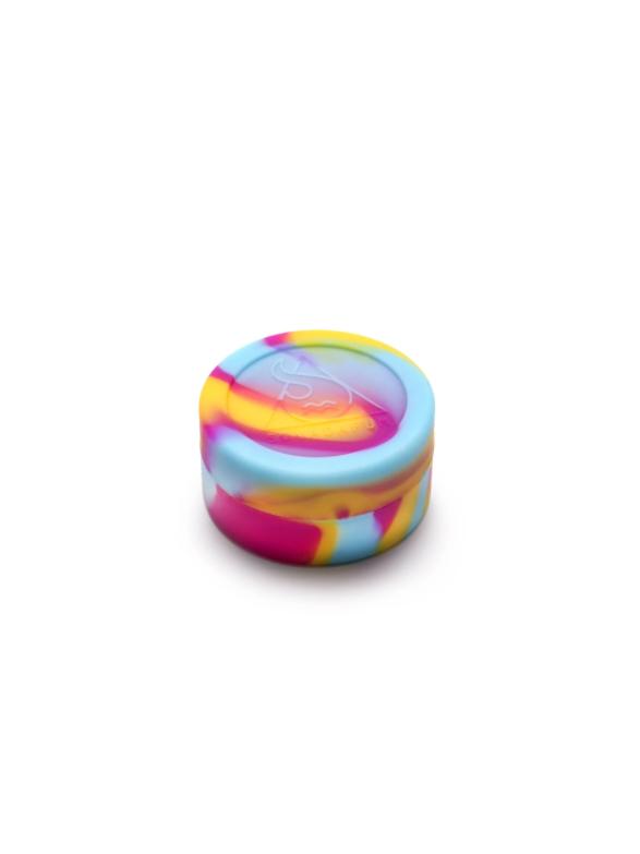 CONTENITORE-L-silicone-squadafum-pink-yellow-blue-bearbush-